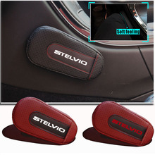 Seat-Supports Romeo Leg-Cushion Armrest-Pad for Alfa Stelvio Car-Styling