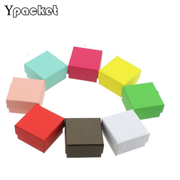 Wholesale Free shipping 5x5x3cm  white Square jewelry organizer box Engagement Ring For Earrings Gift boxes 400pcs/lot