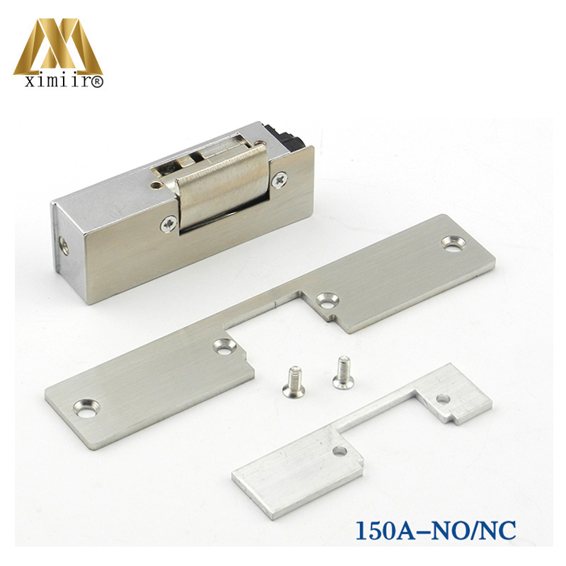 12V Electric Strike Lock NO Style Power To Open Fail Safe 150A Electric Lock Cathode Lock For Door Access Control System
