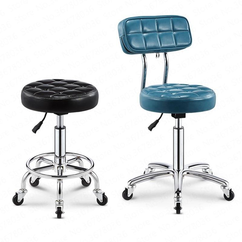 21%Bar Chair Bar Beauty Chair Backrest High Stool Rotating Lift Chair High Bar Stool Round Chair