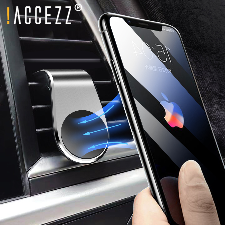 !ACCEZZ Magnetic Car Phone Holder Stand For IPhone 11 Pro X Samsung Air Vent Mount Mobile Phone Iron Sheet Sticky Magnet Bracket