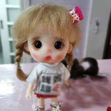 doll wig for 1/8 Bjd JD hair mohair material wig for ob11 doll wig set multi-color doll accessories 9 10 inch bjd doll wig double horse silver color sailor moon wig pullip