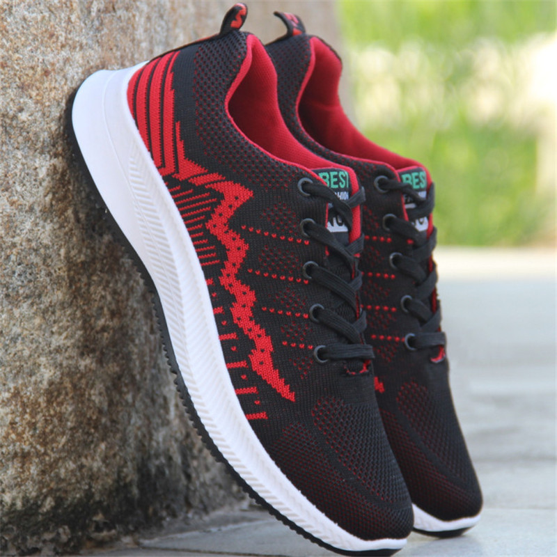 Cheap 2019 Casual Vulcanized Shoes Male Sneakers Fashion autumn Air Mesh Breathable Wedges Sneakers For Men Light Trainers