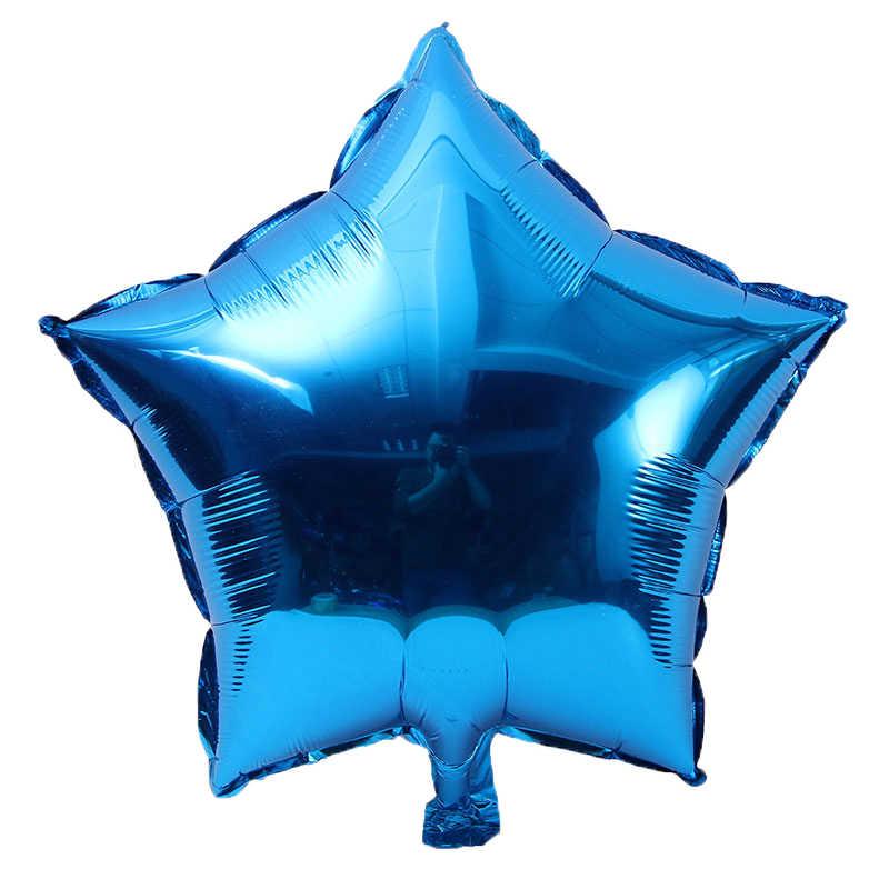 DCM 10 polegada estrela de Cinco pontas-foil balão decorações da festa de aniversário dos miúdos das crianças do bebê do chuveiro do casamento balões globos @ 06
