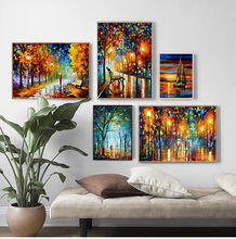 2021 Coloring Hand - Painted Oil Painting Landscape For The Living Room Wall Art Home Decoration Abstract Without Frame