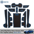 Противогрязная прокладка для Toyota Camry 2012-2017 7 Gen XV50 Altis Aurion 50 MK7 дверь паза ворота Слот Coaster Противоскользящий коврик Camry