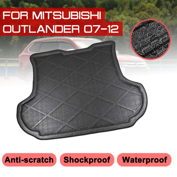 Car Floor Mat Carpet Rear Trunk Anti-mud Cover For Mitsubishi Outlander 2007 2008 2009 2010 2011 2012 image