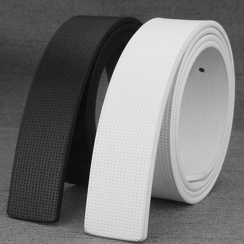 3.3cm genuine leather Cowskin high quality no buckle fashion designers only belts white waist belt casual cowhide Waist Straps