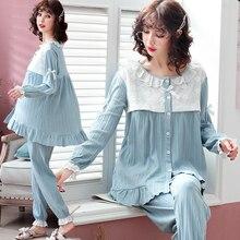 Cotton Maternity Nursing Sleepwear Sets Sweet Nightwear Clothes for Pregnant Women Pregnancy Pajamas Lounge Drop Shipping