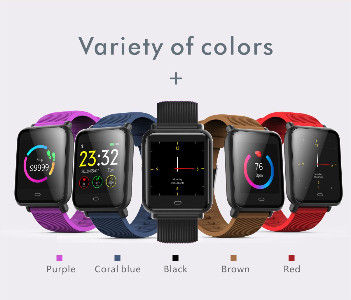 variety of colors, smartwatches for men