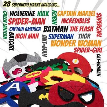Supereroe Maschera Cosplay Superman Batman Spiderman Hulk Thor IronMan Principessa di Halloween Di Natale Per Bambini di Età Costumi Del Partito Maschere