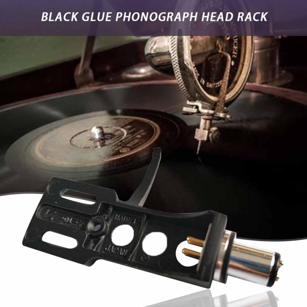 ビニールレコードプレーヤーヘッドホルダーフォノプレーヤーオーディオアクセサリーゴールドメッキ接点コネクタとケーブル