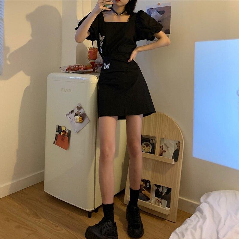 Летняя соленая Милая юбка в стиле ретро, женская одежда в гонконгском стиле маленького размера, Мужская одежда, темпераментная уличная моло...