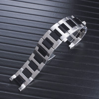 Ceramic with Stainless Steel Watchbands Silver 21mm Metal Watch Band Strap Wrist Watches Bracelet for cartier