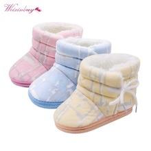 WEIXINBUY Super Warm Infant Soft Bottom Snow Boots Baby Boys Girls Winter Shoes Baby Prewalker