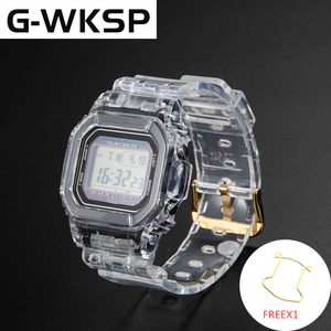 Image 3 - G WKSP DW5600/5610/6900 Silicone Watchband Replacement Rubber Strap Sports Waterproof Transparent Watch Band Bezel