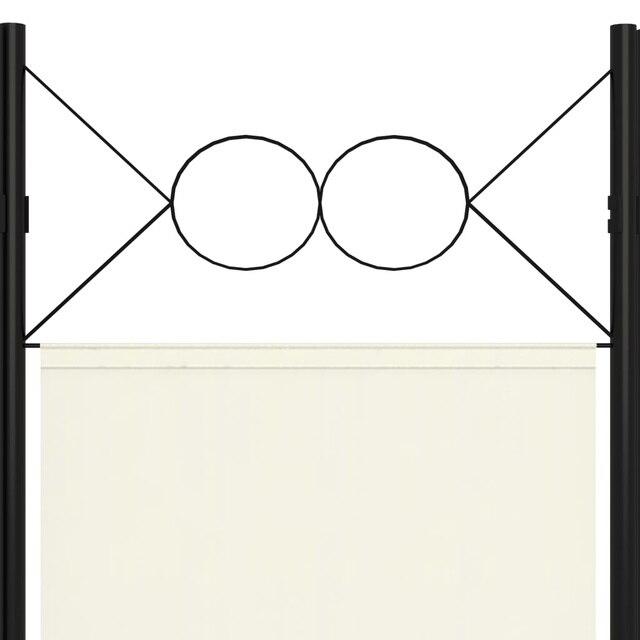 Séparateur de pièce 5 panneaux blanc crème 200x180 cm