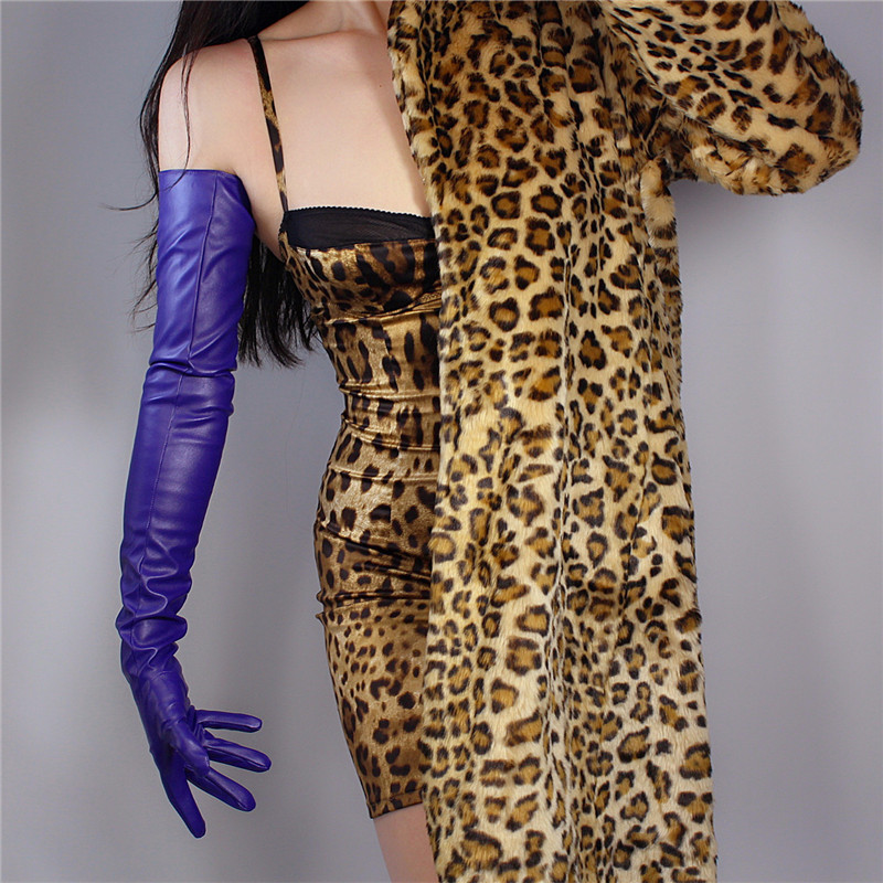 2020 NEW EXTRA LONG FASHION GLOVES Faux Leather Sheepskin 28
