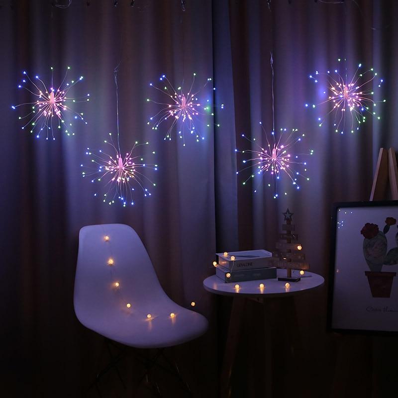Гирлянда на открытом воздухе, стилизованные под языки пламени Рождественские огни Мощность светодиодный строка Медный провод светодиодна...