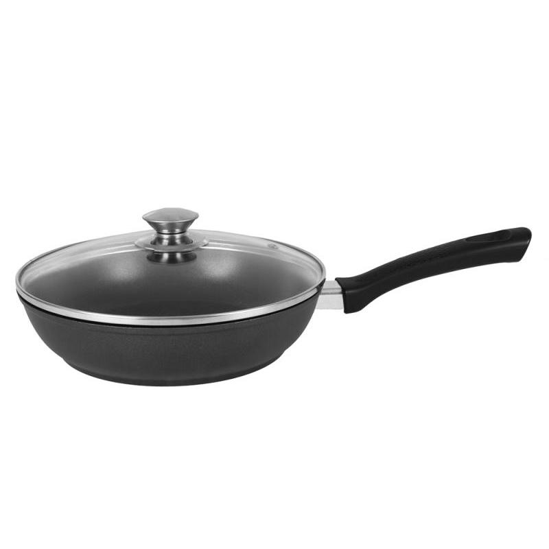 Фото - Frying Pan Kukmara, Tradition, 24 cm, with non-stick coating, with glass cover frying pan kukmara tradition 22 cm with non stick coating with glass cover removable handle
