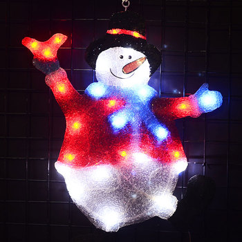 Toprex 2D christmas snowman holiday lights decoration lights outdoor christmas tree light home decor bedroom lights decoration led christmas lights decoration suction cup snowman christmas tree curtain lights battery lights holiday atmosphere lighting