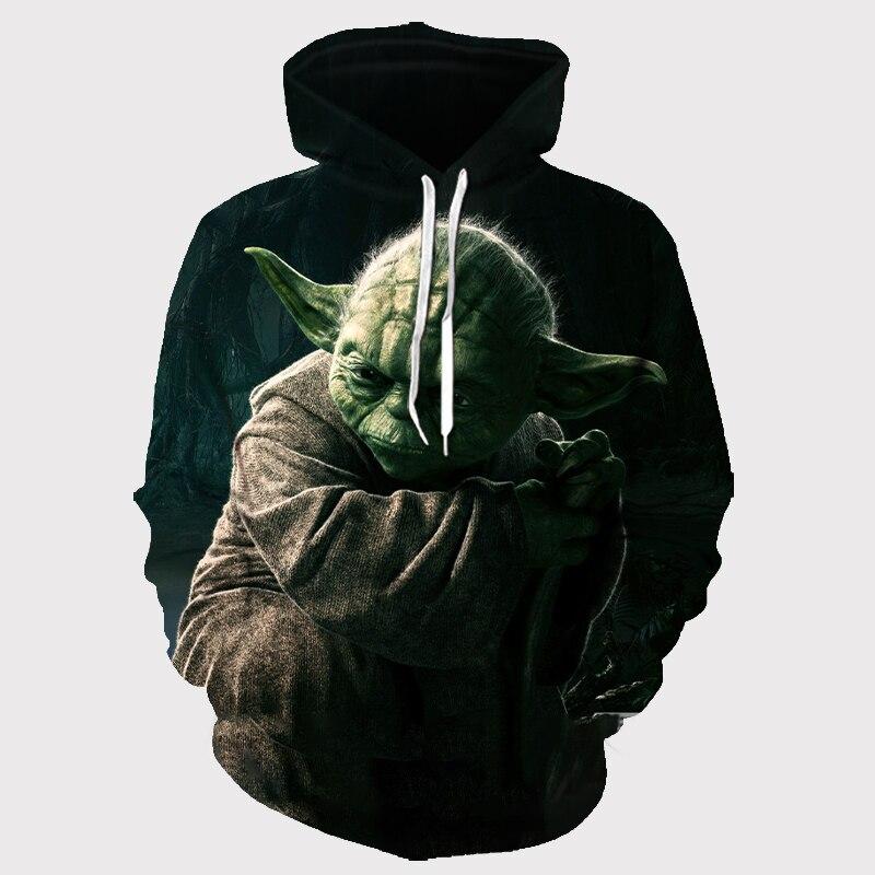 2019 The New Fashion 3d Hoodies Original Style Men Women Pullovers Hot Movie Star Wars Print Hooded Sweatshirt Large Size/S-6XL