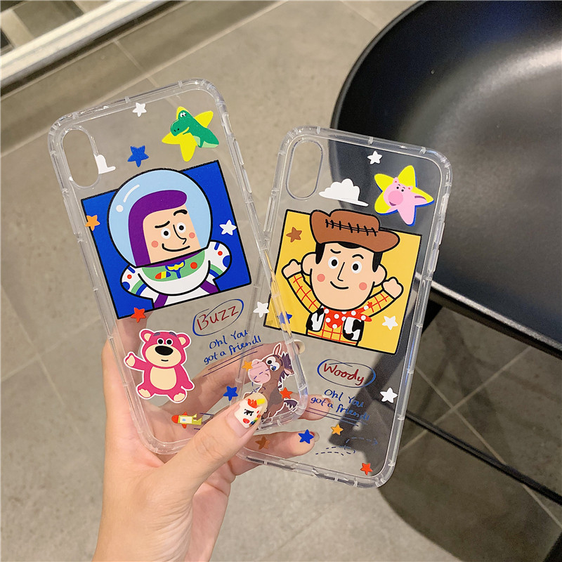 GYKZ Funny <font><b>Toy</b></font> <font><b>Story</b></font> Woody Clear Case For <font><b>iPhone</b></font> X XS MAX <font><b>XR</b></font> 7 8 6 6s Plus Shockproof Best Friend Phone Cover Soft TPU <font><b>Coque</b></font> Bag image