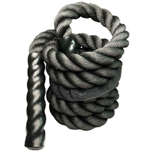 nylon covered 3 8cmx9 meter 1 5x30 combat rope muscle power training rope tug of war rope Fitness Heavy Jump Rope Crossfit Weighted Battle Skipping Ropes Power MMA Training Improve Strength Muscle 25mm