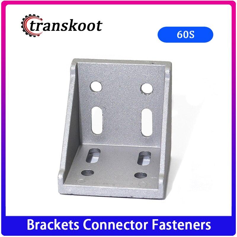 Ev Dekorasyonu'ten Köşe Braketleri'de CNC DIY 6060 köşe montaj 60x60 ev dekoratif köşeli parantez alüminyum profil aksesuarları konektörü köşebent plaka