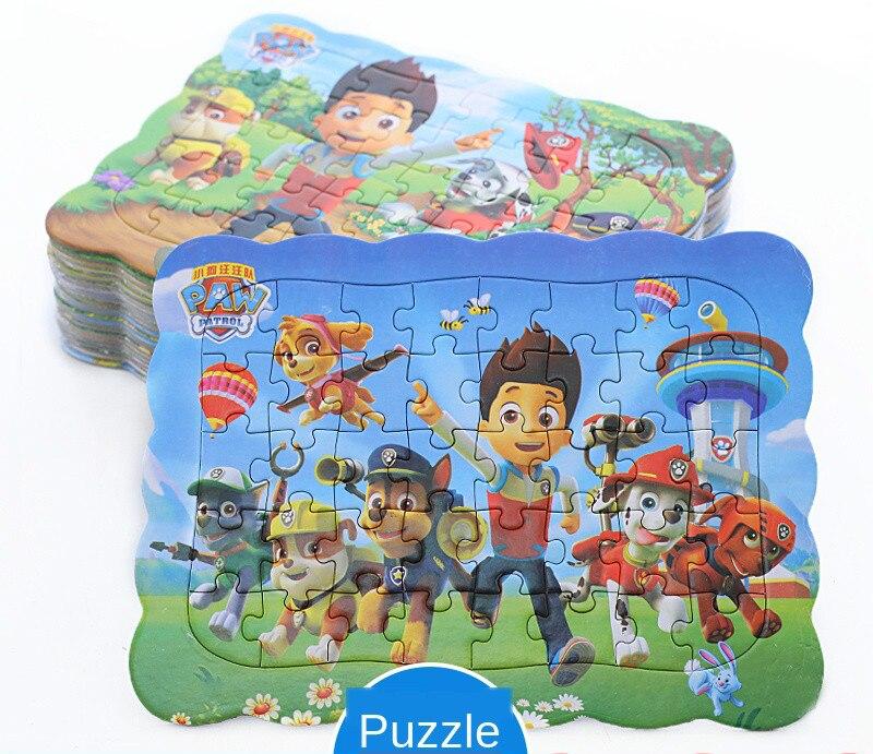 Новый деревянный пазл «Щенячий патруль», детская игрушка, Мультяшные животные, деревянные головоломки, Детская развивающая игрушка для ран...