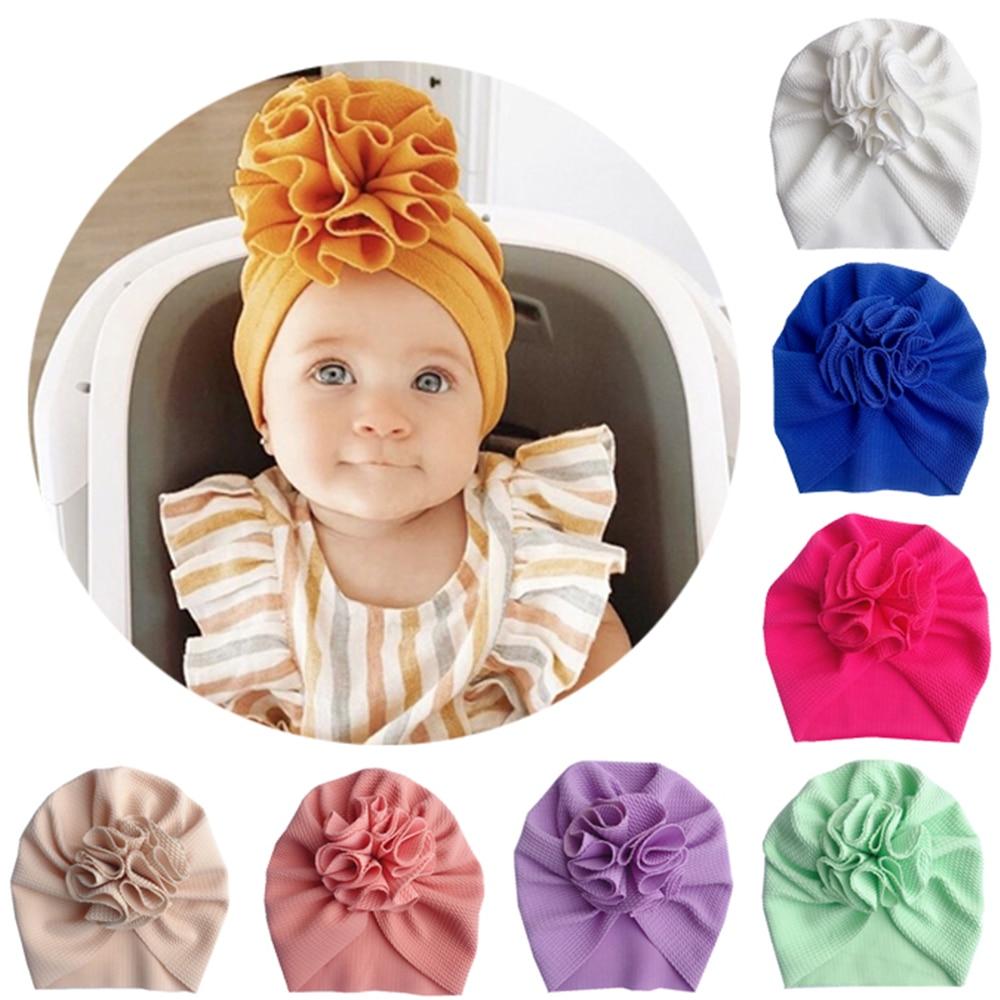 2020 Knot Bow Baby Headbands Soft Elastic Infant Headwraps Newborn Turban Hats Babes Caps Gift
