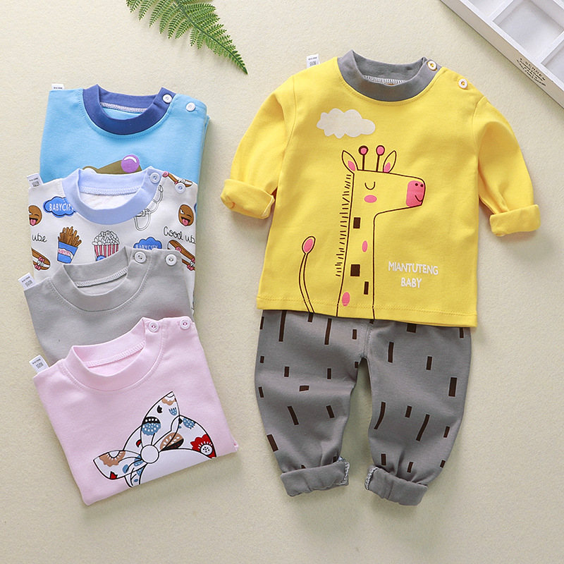 Kids Pajamas Sets Cotton Boys Sleepwear Suit 2pcs Spring Autumn Girls Pajamas Long Sleeve Pijamas Tops+Pants Children Clothing 5
