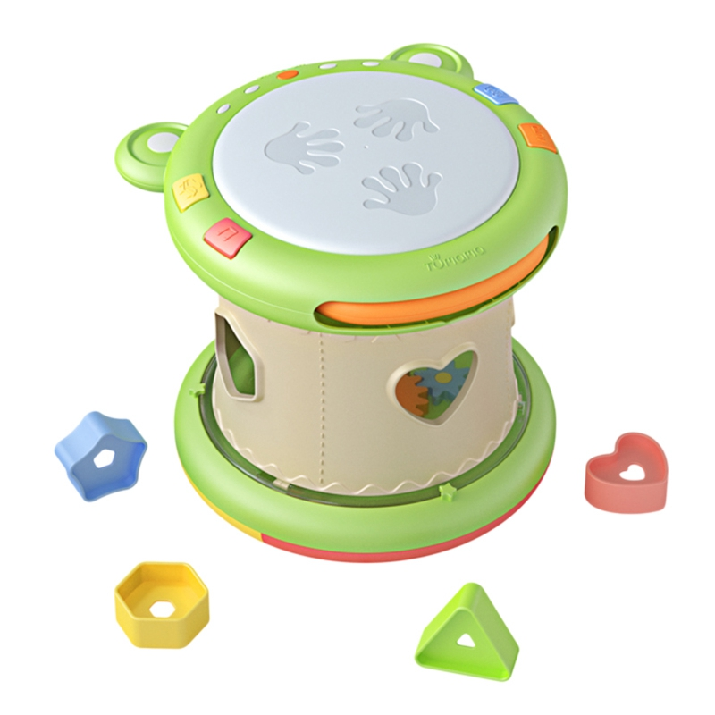 TUMAMA 3 In1 Frog Music Drum Is Suitable For 6-12 Months Baby Music Speaker
