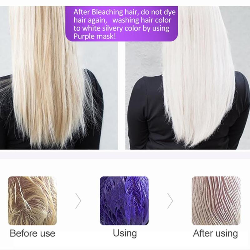 Purc Purple Hair Mask Repairs Frizzy Make Hair Soft Smooth Removes Yellow And Brassy Tones 60ml Magical Treatment Hair Mask 4
