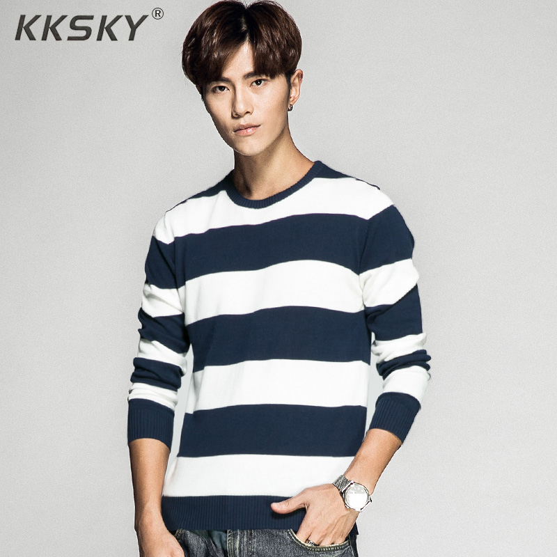 Striped Men Sweater Long Sleeve Pullovers Knitted O Neck Pull Homme Men Winter Clothes 3xl Newest Knittwear Coats