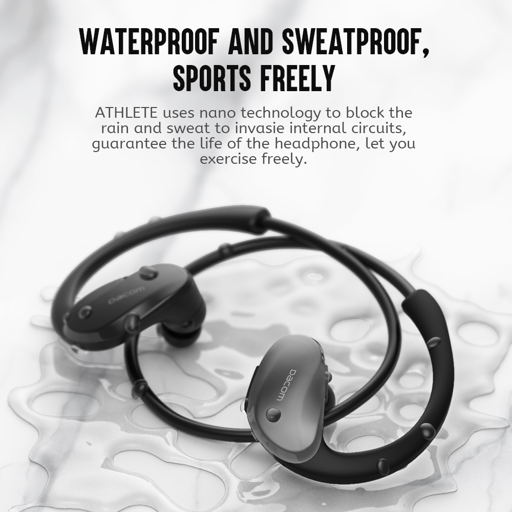 Dacom Athlete Sports Wireless Headphones IPX5 Waterproof Bluetooth Earphones Running Headset Head Ear Phones with Handsfree Mic 3