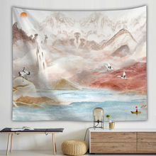 Creative Watercolor Wall Hanging Tapestry Landscape Number Printed Art Cloth Tapestries Polyester Home Decoration Mat
