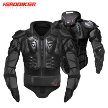 HEROBIKER Motorcycle Jackets Motorcycle Armor Racing Body Protector Jacket Motocross Motorbike Protective Gear + Neck Protector цена и фото