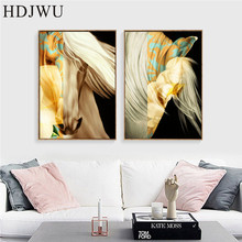 Nordic Canvas Wall Painting Picture Abstract Aminal Printing Posters Pictures for Living Room  Decor DJ403