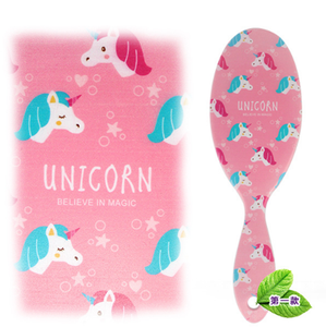 Image 5 - Cute Unicorn Animal Anti static Hair Brush Massage Comb Shower Wet Detangle Hair Brush Salon Hair Styling Tools Four Colors