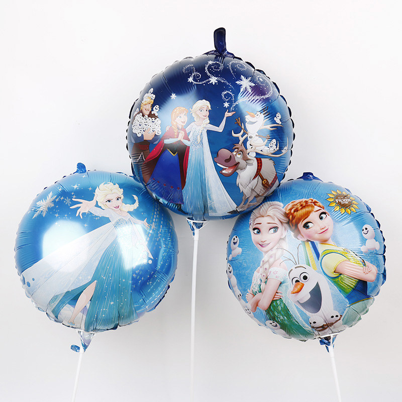 10pcs18inch Frozen Elsa Anna <font><b>Princess</b></font> Foil Balloons Happy Birthday <font><b>Party</b></font> Decorations Kids Love Toys Baby Shower Girl Gifts image