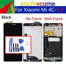 Дисплей 5,0 дюйма для Xiaomi Mi4C, ЖК дисплей с сенсорным экраном и дигитайзером с рамкой, оригинальная замена для Xiaomi Mi 4c, дисплей в сборе