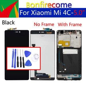 Image 1 - Дисплей 5,0 дюйма для Xiaomi Mi4C, ЖК дисплей с сенсорным экраном и дигитайзером с рамкой, оригинальная замена для Xiaomi Mi 4c, дисплей в сборе