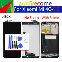 "Xiao mi mi 4c lcd 터치 스크린 디지타이저 용 5.0 ""디스플레이 xiao mi mi 4c 디스플레이 어셈블리 용 원래 교체"