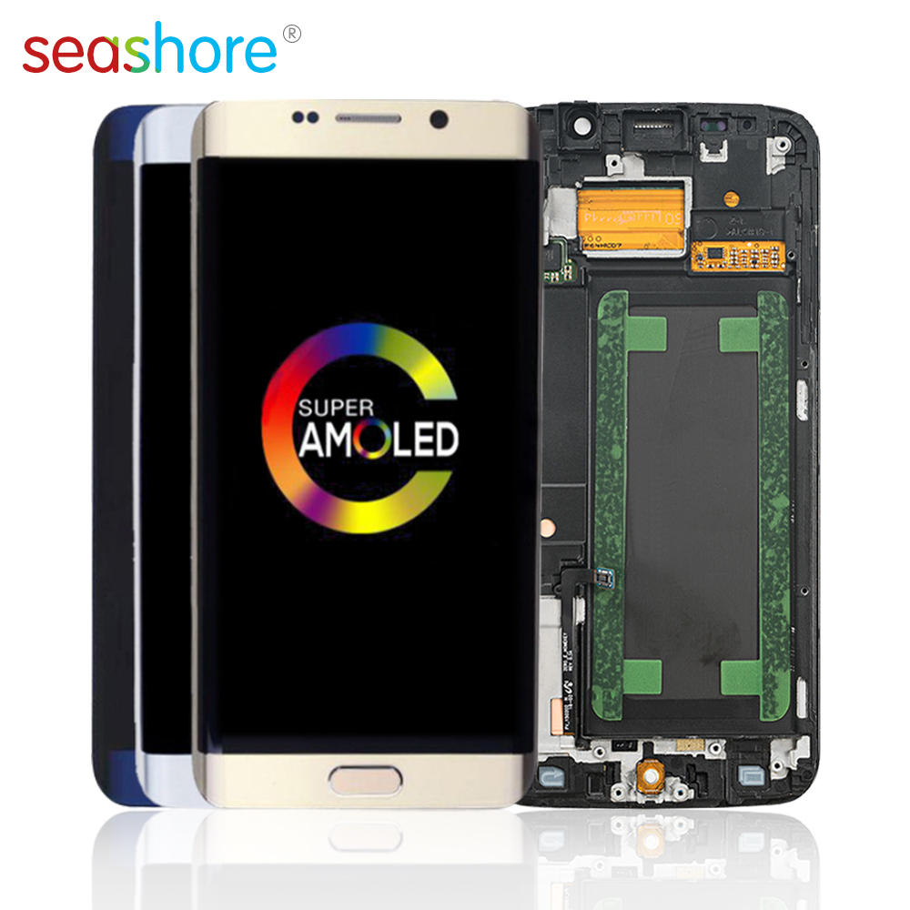 <font><b>ORIGINAL</b></font> For <font><b>SAMSUNG</b></font> Galaxy <font><b>S6</b></font> <font><b>Edge</b></font> LCD Touch Screen Digitizer Assembly For <font><b>Samsung</b></font> <font><b>S6</b></font> <font><b>Edge</b></font> <font><b>Display</b></font> with Frame Replacement G925 image