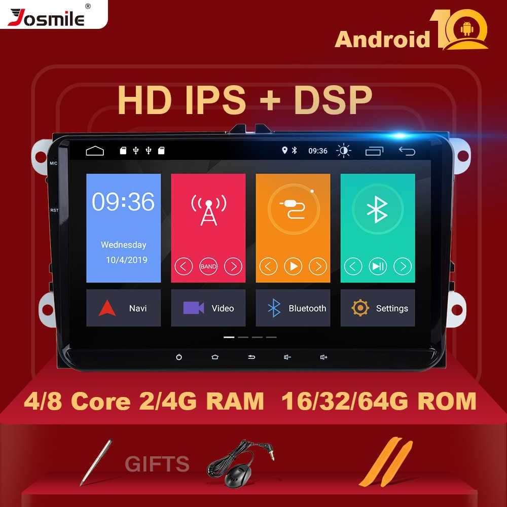 DSP 8 çekirdek 4GB 64G 2 Din Android 10Car radyo GPS navigasyon için Amarok door VW Passat B6 skoda Octavia 2 Superb2 multimedya