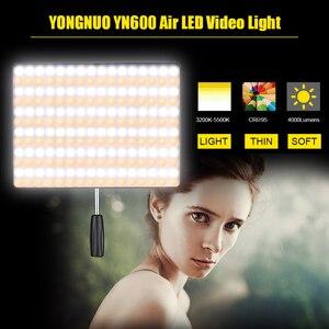 Image 3 - Yongnuo YN600 Không YN600 Siêu Mỏng Camera Video 3200K 5500K Studio Chụp Ảnh Đèn Điện AC adapter Dành Cho Máy Ảnh DSLR