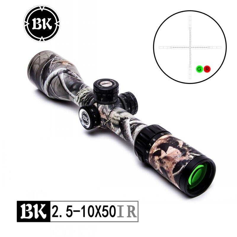 Bobcat King 2.5-10X50 Quick aim Riflescopes Airsoft Hunting Rifle Scope Traffic Light Illumination Sniper Tactical Optical Sight