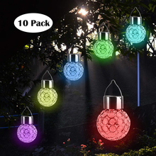 10Pack Solar Garden Light LED Garland String Hanging Globe Bulb Lantern Light For Outdoor Garden Patio Yard Landscape Decoration