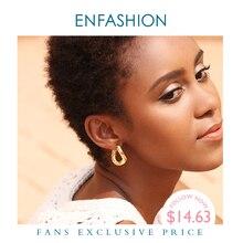 ENFASHION الشرير ربط سلسلة هوب أقراط للنساء الذهب اللون دائرة صغيرة الأطواق أقراط مجوهرات الأزياء Aros دي مودا 2020 EC1044